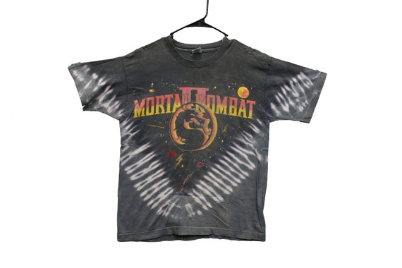 90s mortal kombat 2 tie dye tee shirt size medium