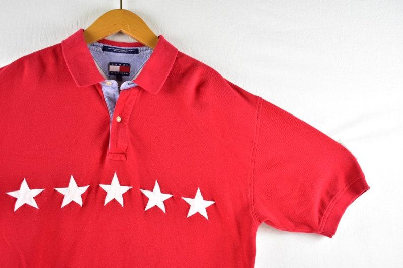 3ac8956f Vintage tommy hilfiger star polo shirt size xl   Etsy