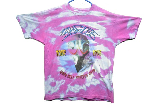 90s tie dye eagles hell freezes over tour tee shir