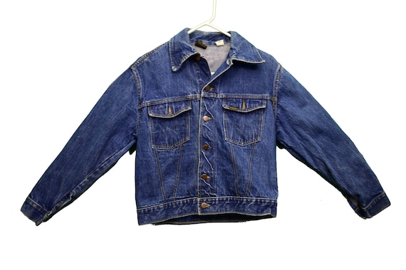 60s roebucks selvedge denim jacket size small