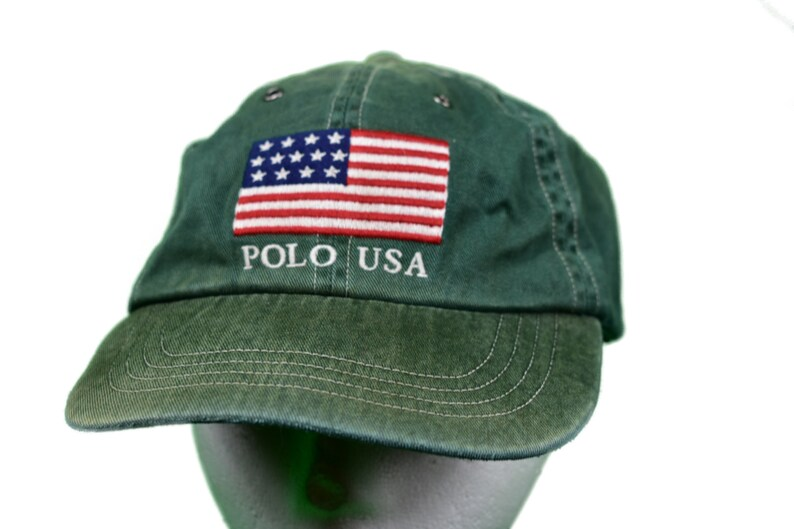 f3fc8e43683fe Vintage polo ralph lauren flag polo usa hat