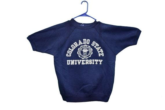 60s champion colorado state short sleeve sweatshir