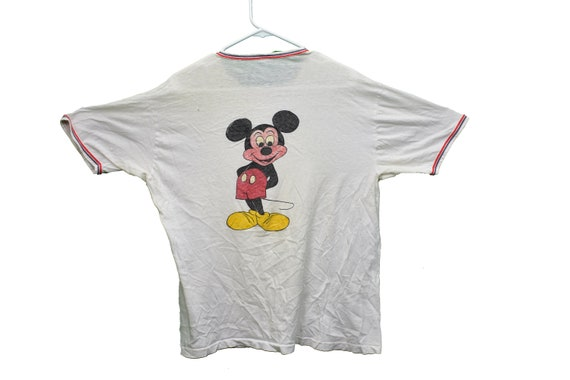 70s hand drawn mickey mouse tee shirt size large