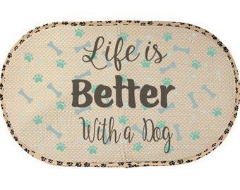 Pet bowl mat, Dog, cat, Mat