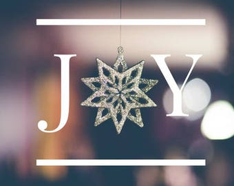 JOY Christmas Digital Print