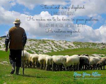 Psalm 23 Shepherd Poster