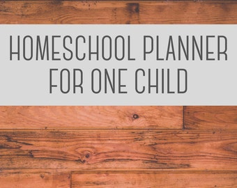 Homeschool Planner for One Child