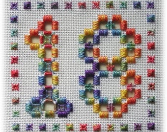 Hardanger embroidery - set of numbers