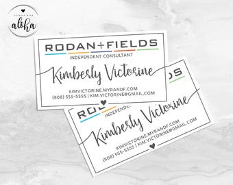 Rodan and Fields Business Card Personalized Digital File | Square Heart
