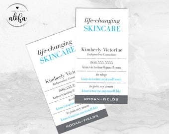 Rodan and Fields Business Card Personalized Digital File   What If Essentials