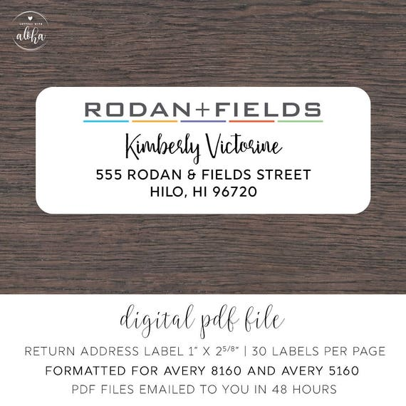 personalized return labels 800 printed personalized return address