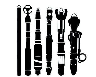 Doctor Who / Sonic Screwdriver vinyl decal sticker