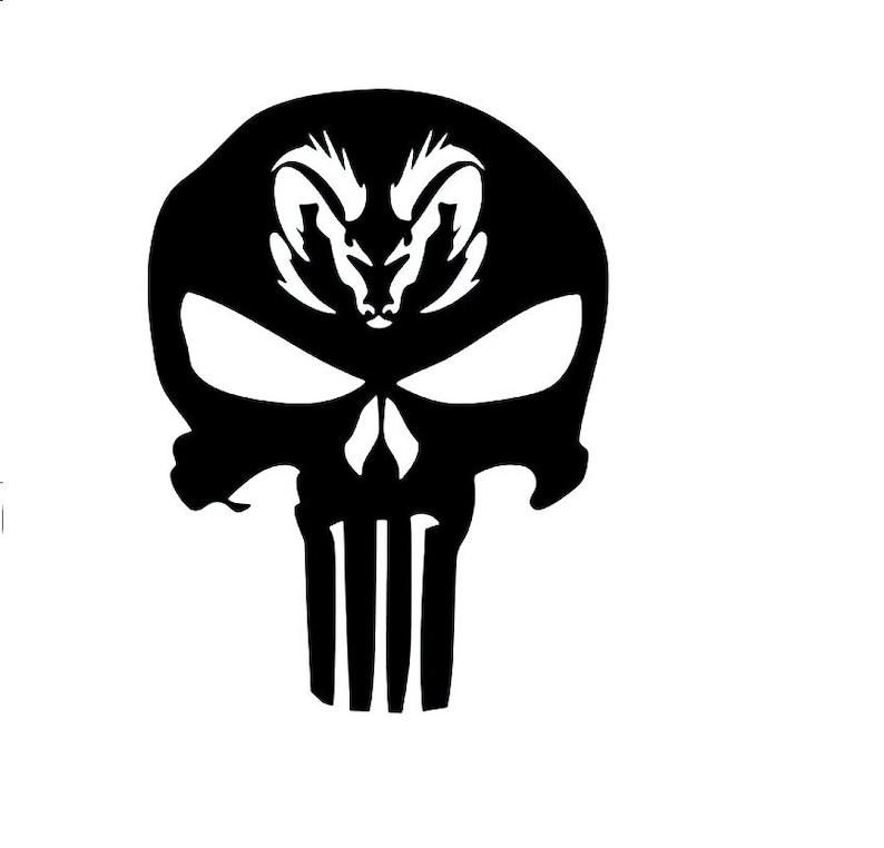 Dodge Ram Punisher Vinyl Aufklebervinyl Aufkleberauto Etsy