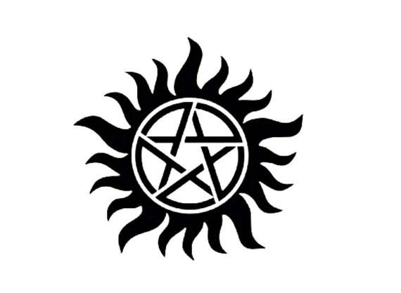 Supernatural Anti Possession Symbol Vinyl Sticker Decal Etsy