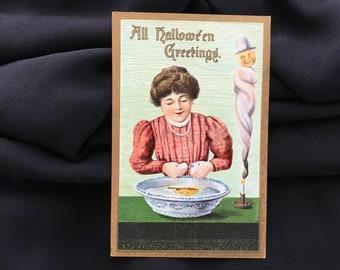 Rare 1913 Halloween Postcard/ Post Card Germany, Antique