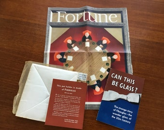Introduction of Ownes-Corning Fiber Glas 1939 Fortune Magazine Collectible