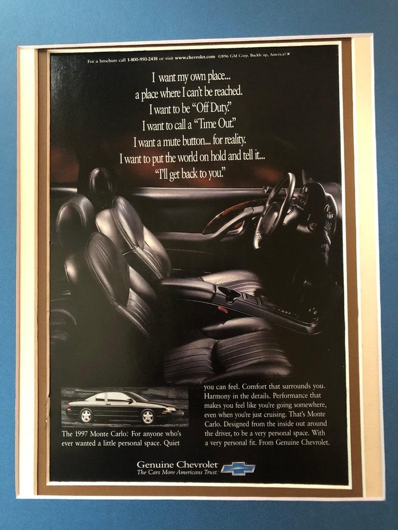 1990/'s Chevy Monte Carlo Advertisement