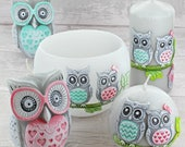 Limited Edition Owl Figure Couple Candles