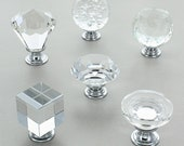 Crystal Glass Cupboard Knobs by G Decor