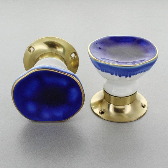 Crackle glaze ceramic knob