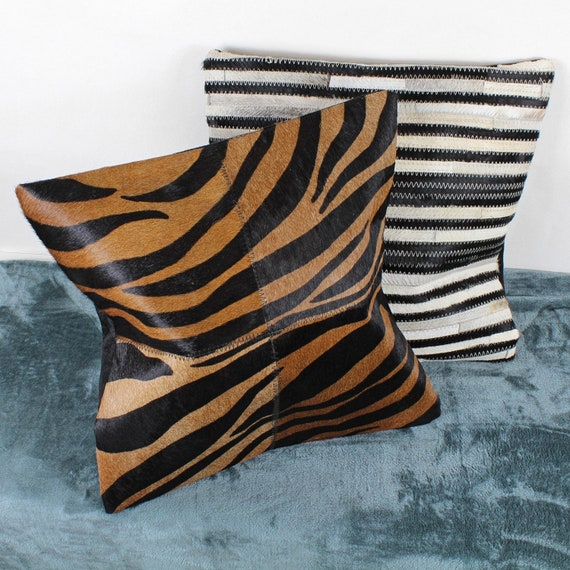 Cowhide Triangle Cushions Covers By G Decor