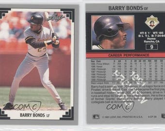 Vintage Barry Bonds Etsy