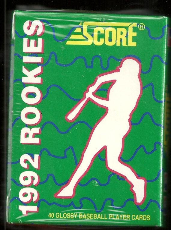 1992 Pinnacle Rookies Factory SEALED Complete Glossy Set