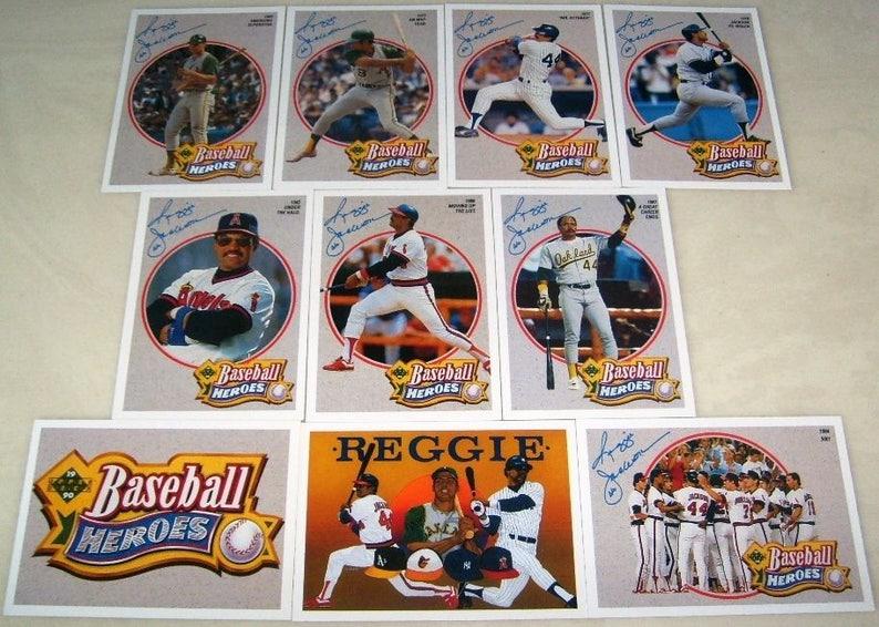 1990 Upper Deck Reggie Jackson Baseball Heroes Complete Set 9 Cards Header
