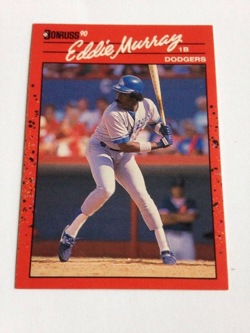 1990 Donruss Baseball Card 77 Eddie Murray Los Angeles Dodgers Over 60 Cards Great Condition
