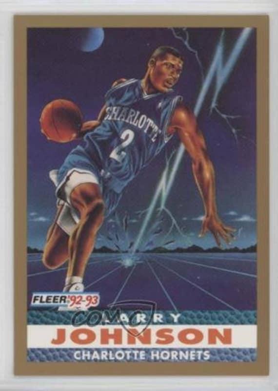 1992 93 Fleer 253 Larry Johnson Charlotte Hornets Basketball Card Mint Condition