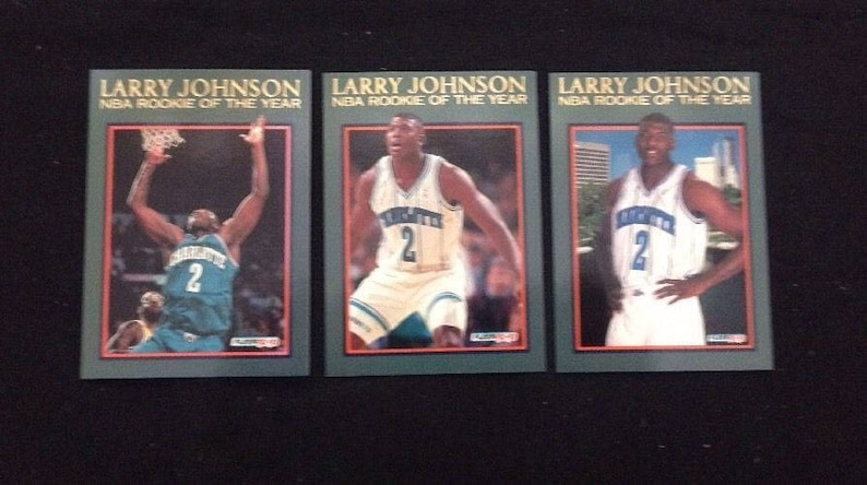 199293 Fleer Larry Johnson Nba Rookie Of The Year Cards 13 14 15 Mint Condition