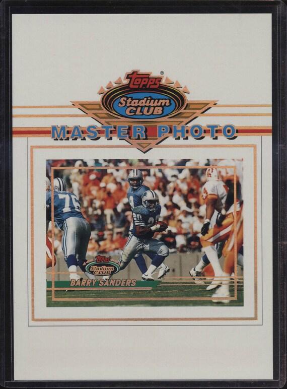 ff7d7fd5f0 1993 Topps Stadium Club 5x7 Master Photo Barry Sanders Detroit | Etsy