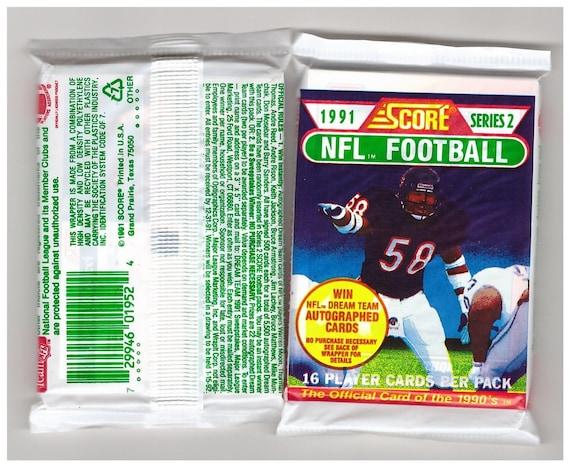 1991 Score Series 2 Football Cards Unopened Packs 6 96