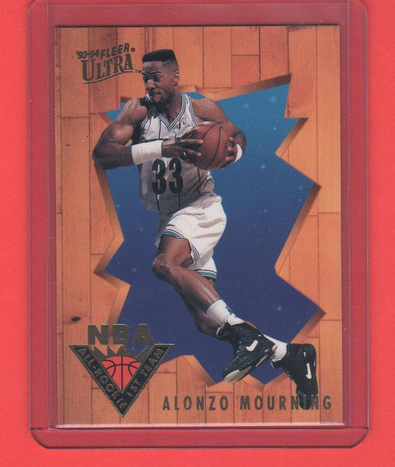 1993 94 Fleer Ultra Nba All Rookie 1st Team 4 Alonzo Mourning Charlotte Hornets