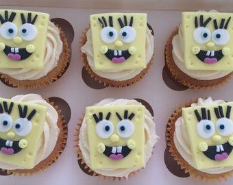Sponge Bob Square Pants Fondant Toppers