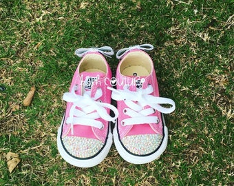 5a63c74f5a42 Classic Pink Bling Converse-Pink Converse -Pink Sneaker-Bling Converse-Bling  Sneaker