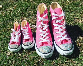 d82e82adc23b Mommy and Me Matching Converse-Mommy Converse-Mini Me Converse -Toddler  Converse-Bling Converse-Mommy and Me High Top Converse