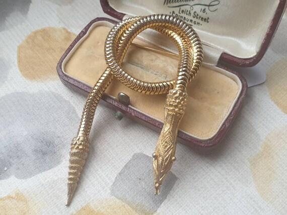 Vintage Gold Snake Brooch