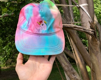 9e3130861a6 Tie Dye Hat Unicorn Hat Rave Outfit Accessories Hippie Clothing Mermaid Hat  Tye Dye Dad Hat Handmade Clothes Trippy Festival Hat Rave Hat