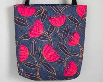 Floral Tote Bag 13x13, 16x16, or 18x18 | Bold & Beautiful |