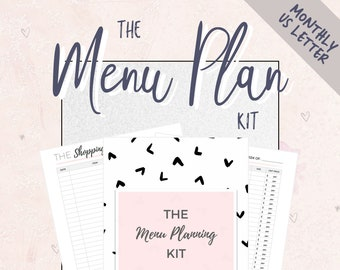 weekly meal planner menu planning kit meal planner shopping etsy