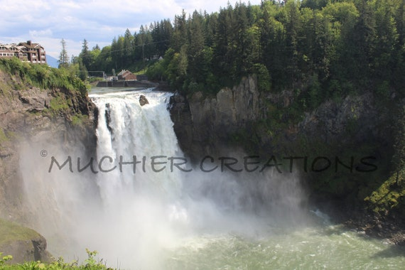 Twin Peaks Waterfall Snoqualmie Falls Pnw Photography Etsy