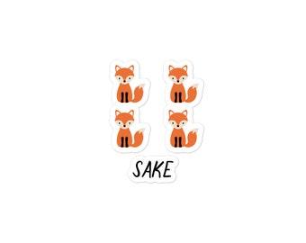 For Fox Sake Sticker - Punny