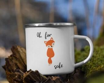 For Fox Sake Enamel Mug