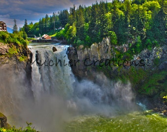 Twin Peaks Waterfall - Snoqualmie Falls - PNW Photography - Pacific Northwest - Nature Photography - TV Reference - Instant Download