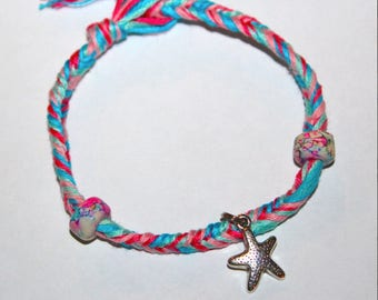Cotton Candy Starfish Bracelet