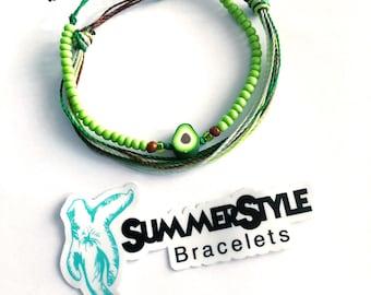 It's an Avocado Adjustable Waterproof Bracelet Pack | Avocado Gift | Avocado Bracelet | Wax Cord Bracelet | Waterproof Cord