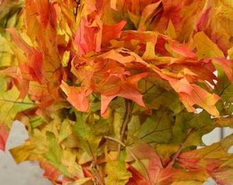 Preserved Harvest Oak Leaves | Autumn Oak Leaves | Preserved Leaves | Dried Leaves | Dried Decor