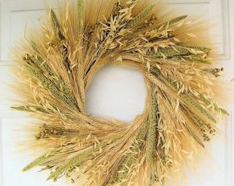 Mixed Grain Wreath | Wheat Wreath | Mixed Wheat Wreath | Autumn Wreath