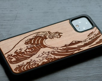Christmas gift | Kanagawa Japanese Great Wave Engraved | Google Pixel Pixel 5, Pixel 4A 5G, Pixel 3A XL | gift for her, best friend gifts